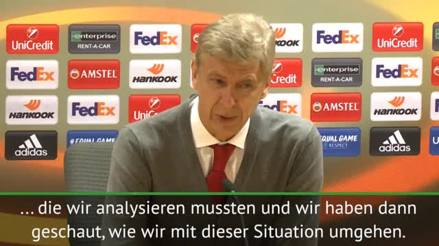 """Wenger gesteht: """"Dachte, wir spielen nicht"""""""