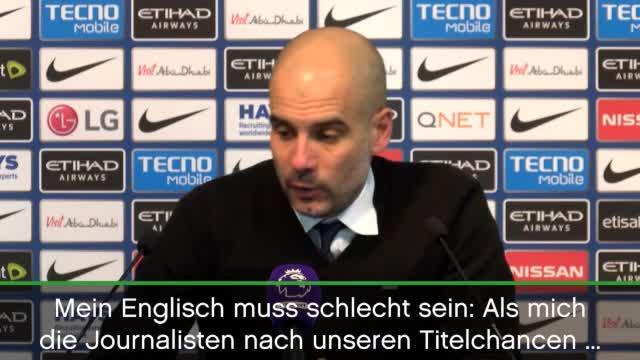 """Guardiola: """"Mein Englisch muss schlecht sein"""""""
