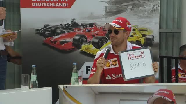 Vettel beim Fan-Quiz
