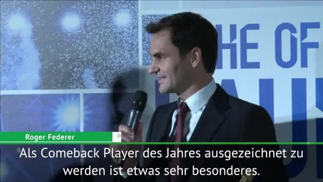"""Award für Federer: """"Teile diese Auszeichnung"""""""