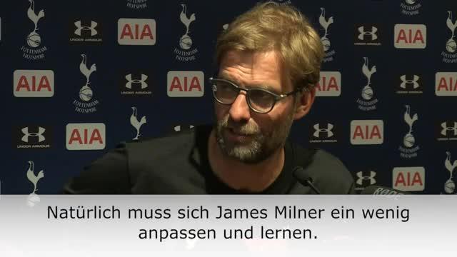 """Klopp über Milner: """"Anpassen und lernen"""""""