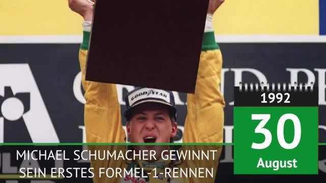 On This Day: Schumacher feiert ersten F1-Sieg