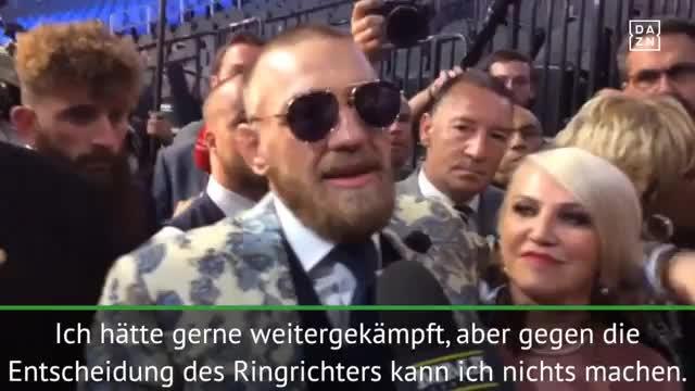McGregor kritisiert Kampf-Abbruch