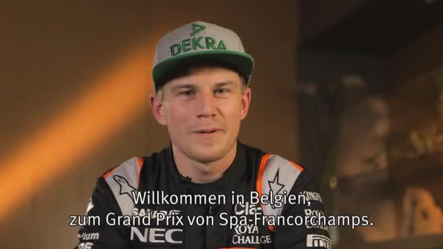 Hülkenberg stellt die Formel-1-Strecke in Belgien vor
