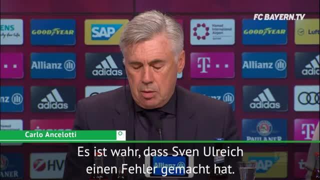 Ancelotti zu Ulreich-Patzer und PSG-Kracher