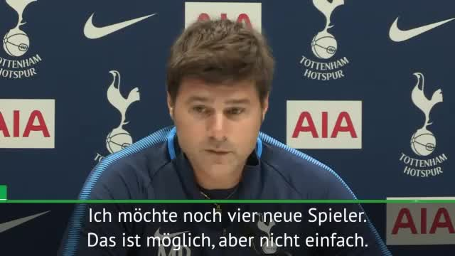 """Pochettino gierig: """"Möchte vier neue Spieler"""""""