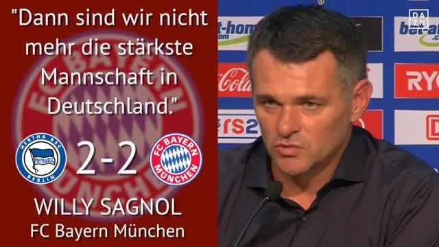 """Sprüche: """"Bayern nicht mehr stärkstes Team"""""""