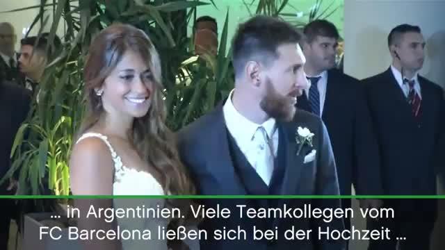 Lionel Messi heiratet Jugendliebe in der Heimat
