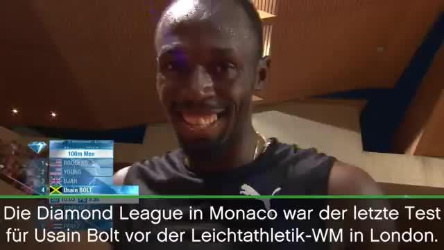 Monaco: Usain Bolt gewinnt WM-Härtetest