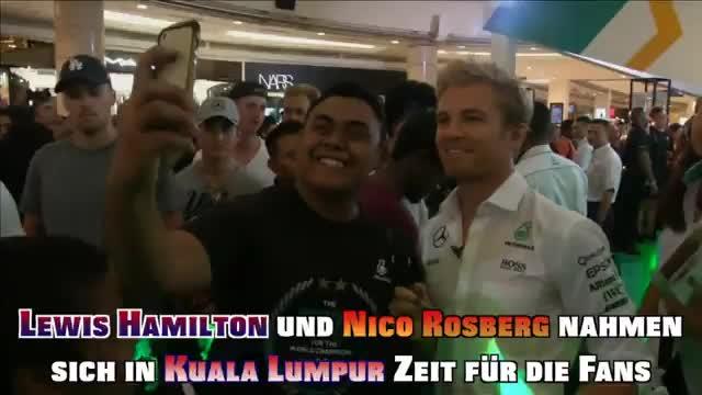 F1: WM-Selfies mit Rosberg und Hamilton