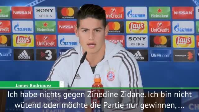 "James: ""Empfinde keinen Hass gegen Zidane"""