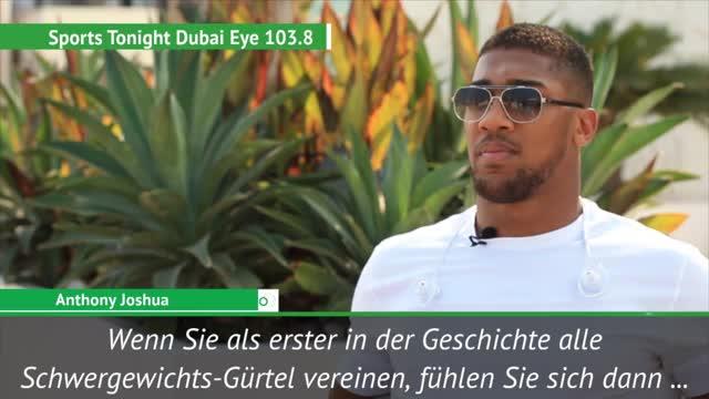 Joshua: Bin noch nicht auf Ali's Niveau
