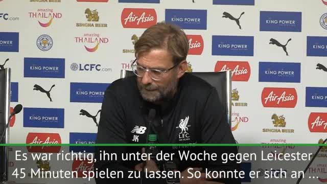 """Klopp zu Coutinho: """"Sind zufrieden mit ihm"""""""
