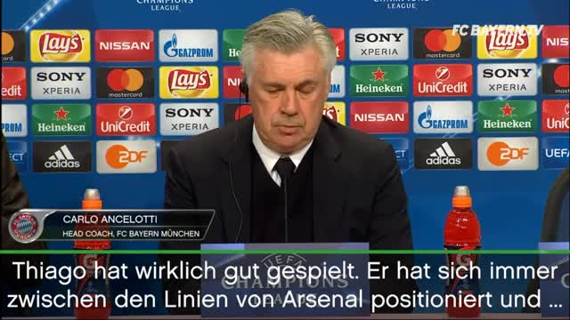 "Ancelotti lobt: Thiagos Leistung? ""Perfekt"""