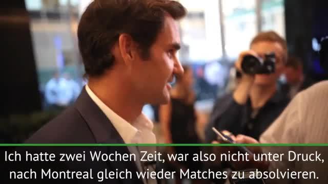 """US Open: Federer: """"Bin voll im Plan"""""""