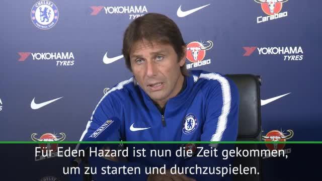 """Conte: """"Eden Hazard ist bereit"""""""