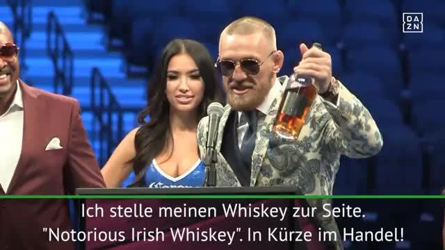 McGregor mit kuriosem Whiskey-Auftritt