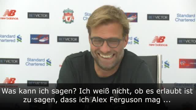 """Klopp: """"Darf ich Alex Ferguson mögen?"""""""