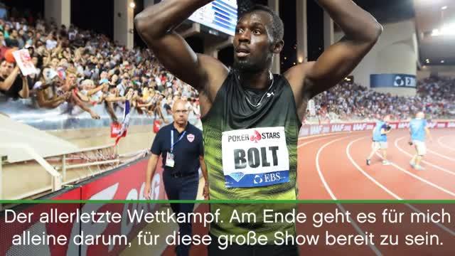 """Bolt vor WM: """"Jetzt gebe ich nochmal alles"""""""
