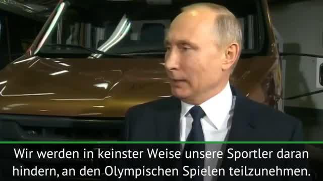 Putin nach Olympia-Sperre: Kein Boykott!