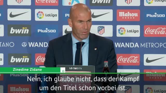Zidane trotzig: Titelkampf noch nicht vorbei