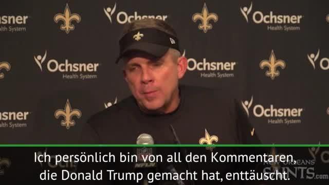 Saints-Coach Payton über Trump und Hymnen-Protest