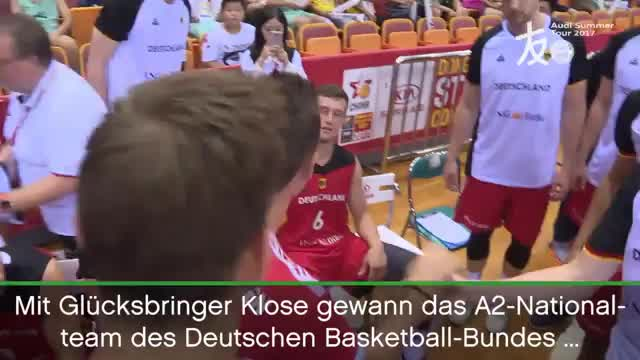 Stargast Klose als Glücksbringer fürs DBB-Team