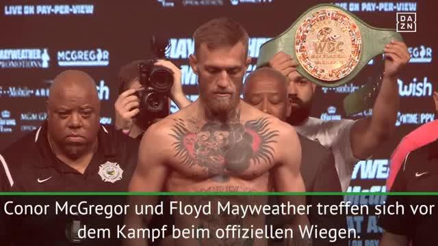 McGregor vs. Mayweather! Das Wiegen