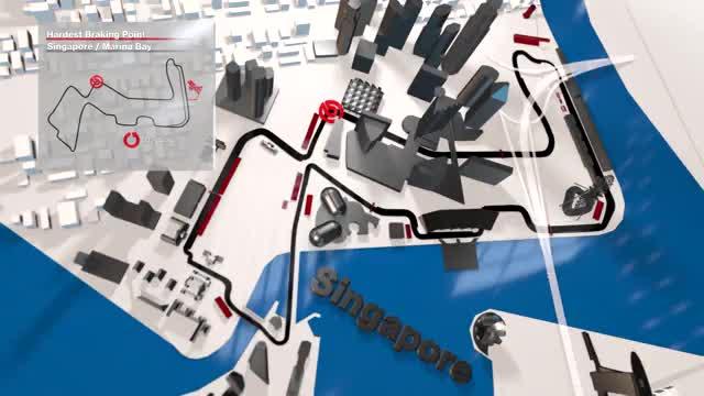 F1: die härteste Kurve in Singapur