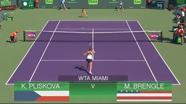 Miami: Karolína Plíšková mit lockerem Start