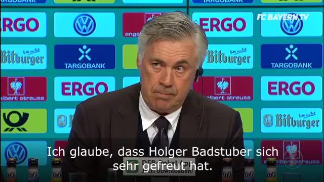 """Ancelotti zu Badstuber: """"Freuen uns über ihn"""""""