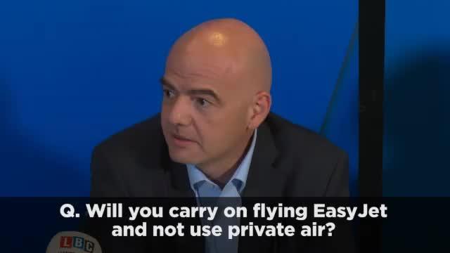 """Infantino: """"Kann nicht nur Easy Jet fliegen"""""""