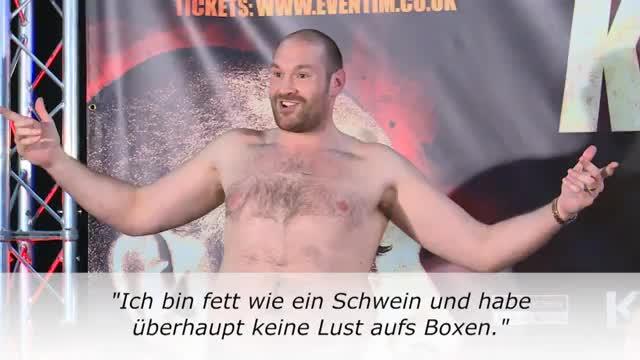 """Fury zieht blank: """"Fett und keine Lust"""""""