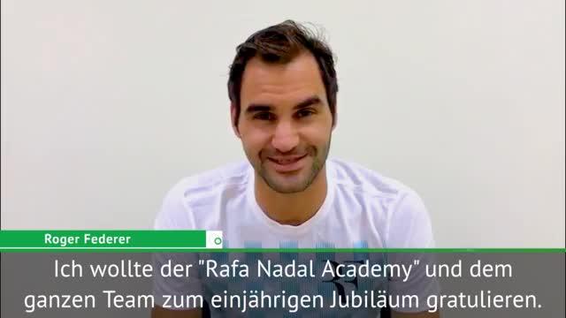 Federer gratuliert Nadal für Akademie-Jubiläum