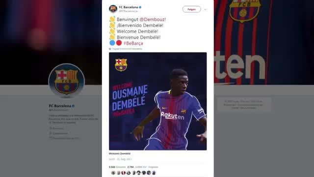 105 Mio.! Dembeles Rekord-Transfer zu Barca fix
