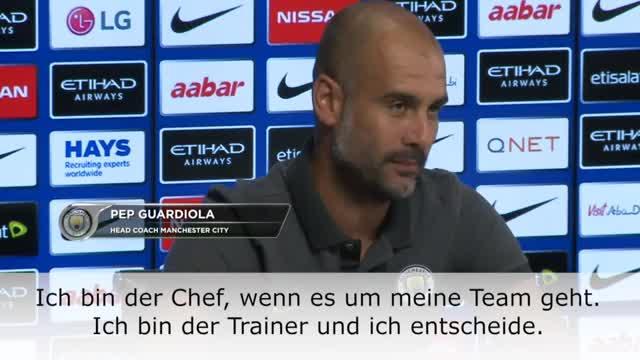 """Guardiola: """"Ich bin Chef, ich entscheide"""""""