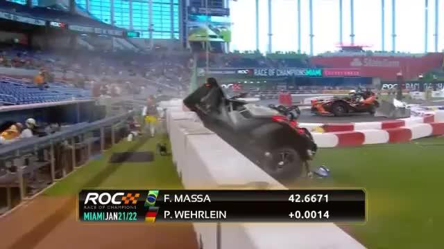Race of Champions: Wehrlein mit Horror-Crash