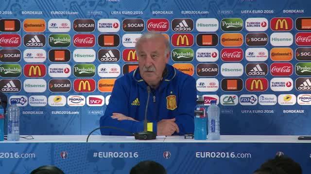 """Del Bosque: """"Kroatien eines der besten Teams"""""""