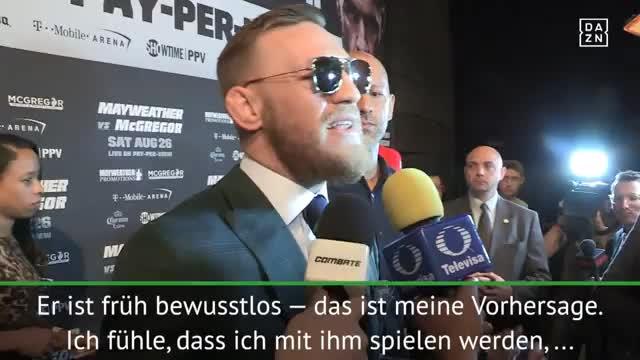 """McGregor: """"Werde mit Mayweather spielen"""""""