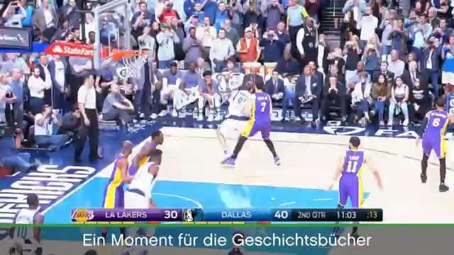 VIRAL: Basketball: Historisch! Hier knackt Dirk die 30.000 Punkte