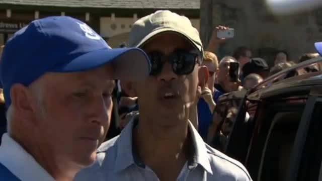 St. Andrews: Barack Obama als Golf-Star-Gast