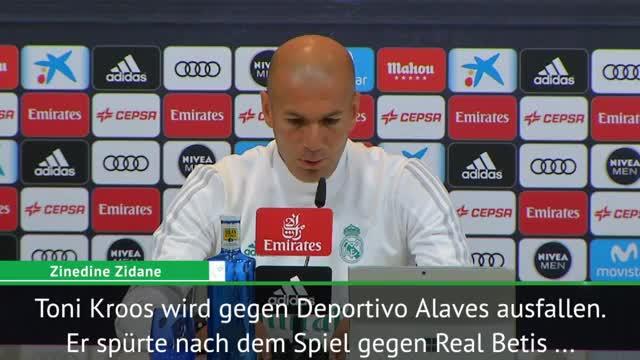 Zidane bangt um Kroos