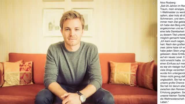 F1: Rücktritt! Nico Rosberg beendet Karriere