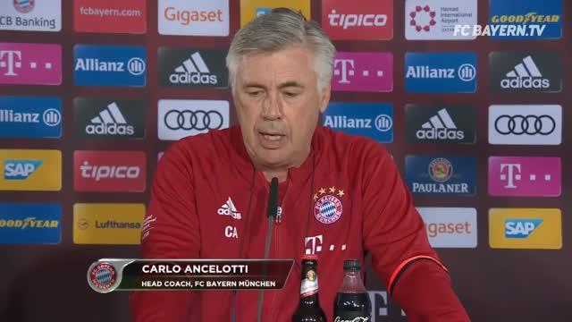 Vor Hertha: Ancelotti albert mit der Presse