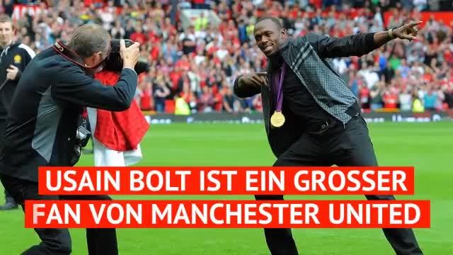 Usain Bolt im großen Manchester-United-Quiz