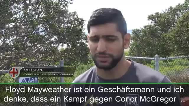 Boxen: Khan: Mayweather gewinnt gegen McGregor