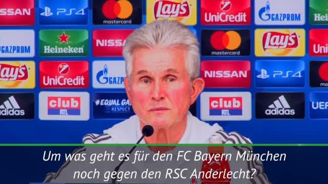Herr Heynckes, um was geht es gegen Anderlecht?