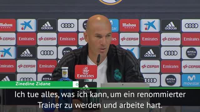 """Zidane: """"Bin sicher nicht der beste Trainer"""""""