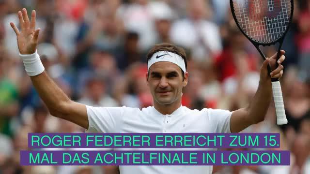 Wimbledon: Kerber knapp, Federer locker weiter