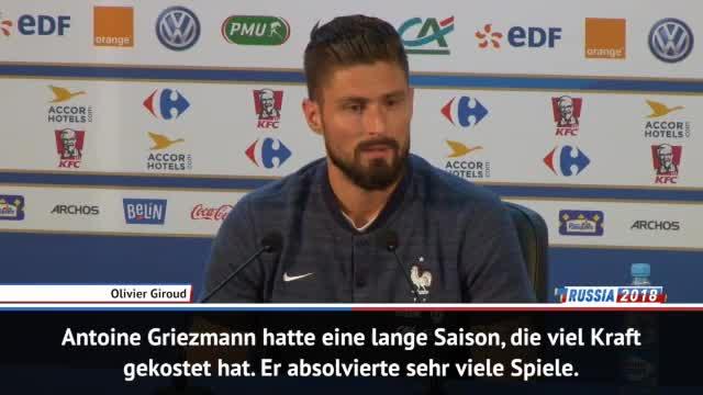 """Giroud: """"Griezmann körperlich nicht ganz fit"""""""